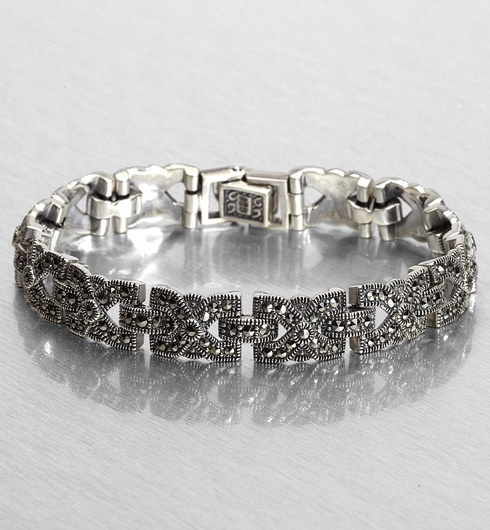 Othmar Jewellery Magical Marcasite Final Vintage Bracelet Silver